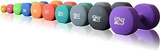【2個セット】FIELDOOR 鉄アレイ 3kg/4kg/5kg/8kg/10kg シェイプアップ 筋力トレーニング [筋力トレーニング 筋トレ シェイプアップ 鉄アレー カラーダンベル]…