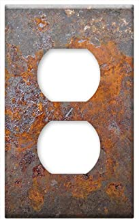 Switch Plate Outlet Cover - Rust Metal Steel Old Grunge Texture Iron