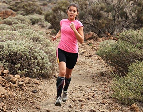 Camari Gear Sports Waden Kompressionsstrümpfe (PAAR) – Calf Sleeves für Männer & Frauen – Wadenbandage für Schnelle Erholung, Bessere Blutzirkulation, Laufen, Radfahren, triathlon, Flugreisen, Krankenschwestern - 5