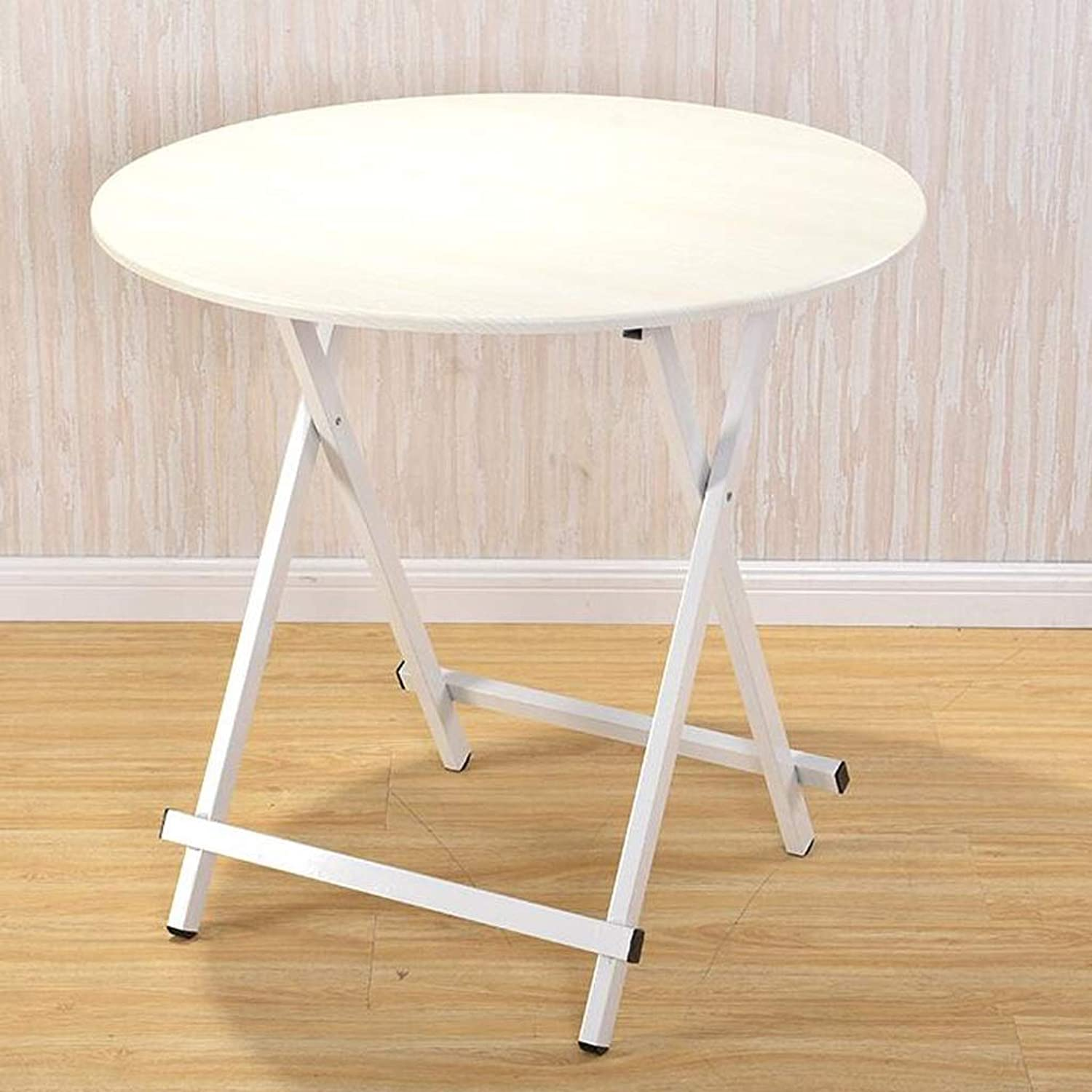 JSFQ Folding Table - Household Table - Small Portable Small Round Table - Balcony Table - A Variety of colors Available Folding Table (color   D)