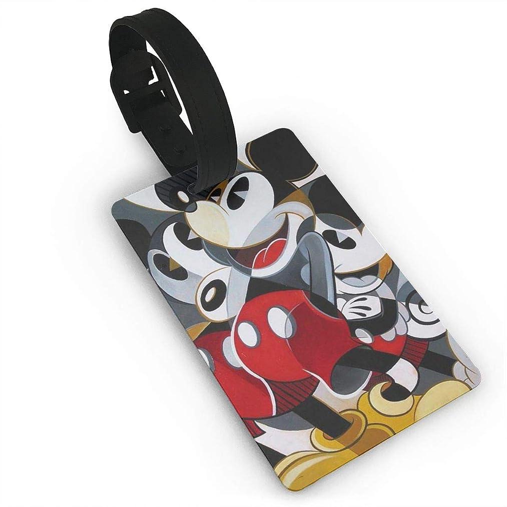 絶望的なギャザーオセアニアミッキーマウス バッグ用ネームタグ 旅行用 カバン装飾 出張 旅行用 ネームタグ旅行小物 紛失防止 5.4x8.5cm