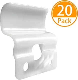 Vinyl Siding Hooks(20 Pack), No-Hole Needed Heavy Duty Plastic Vinyl Siding Hanger Clips for Hanging