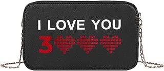 chinatera Crossbody for Women Purse, Small Letter I Love You Print Shoulder Handbags Women