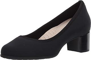 Aravon Womens Career Dress Pump, Black Lycra,6 Wide