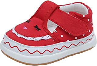 Baby Girls Cotton Embroidered Rubber Sole Outdoor Sneakers Princess Shoes First Walkers Shoes