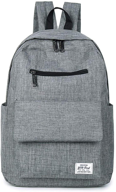 Computer-Beutel der weiblichen Art und Weise des weiblichen Studentenrucksacks Normallack-Collegewind-Reisetasche, 41 × 30 × 15cm, grau   001