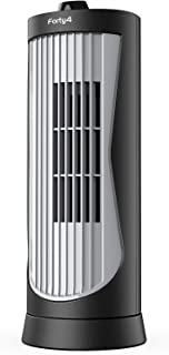Small Oscillating Tower Fan, Portable Electric Desk Fan, Quiet Personal Cooling Fan, 13 Inch, Ultra-Slim, 2 Settings, Rotating Standing Fan Perfect for Indoor Office Home Tabletop