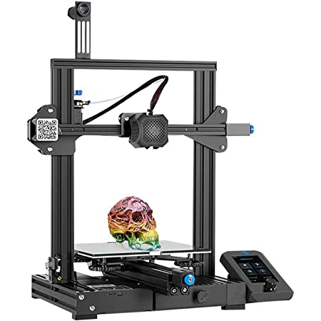 Creality Ender 3 V2 2021 FDM 3D Printer | Silent Motherboard Meanwell Power Supply | Carborundum Glass Bed | Color Display | Size 220 x 220 x 250 mm