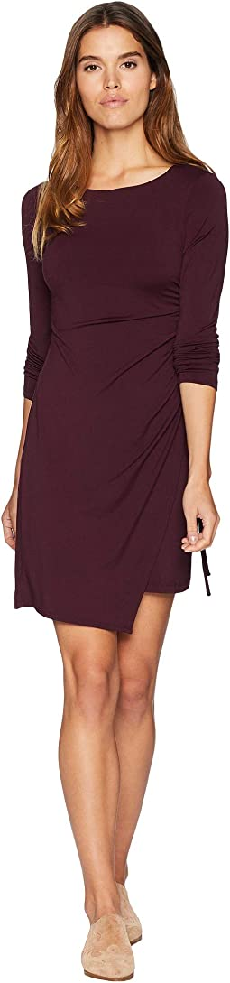 Ruched Overlay Long Sleeve Dress