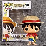 Yooped One Piece Funko Pop Luffy Qiao Ba Ai Luo Muñeca de Cabeza Grande Decoración Hecha a Mano Modelo Modelo