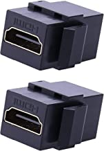 HDMI Keystone Jack Insert - iGreely 2Pack Female to Female Coupler Snap-in Insert Connectors Adapter for Wall Plate - Black
