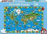 Schmidt Spiele 56118 200pieza(s) Puzzle - Rompecabezas (Jigsaw Puzzle, Mapas, Niño/niña, 8 año(s), 432 mm, 291 mm)