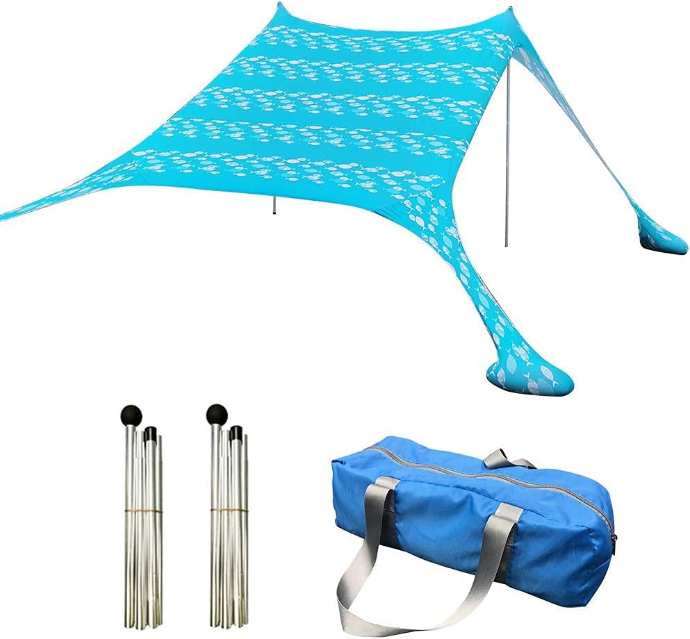 BSMEAN Beach Tent Pop Up Canopy UPF50+ Shade Directly managed store Sun An 2021 new Easy
