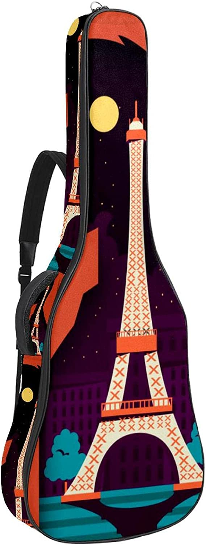 Guitar Tampa Mall Gig Bag Backpack with Reservation Shoulder Strap Adjustable Gu