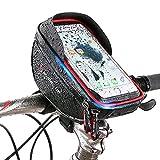 Haokaini Fahrrad Telefon Front Rahmentasche Wasserdichte Fahrrad Oberrohr Fahrrad Telefon Halterung Pack mit Touchscreen Große Kapazität Handyhalter Passt Handys unter 6 Zoll