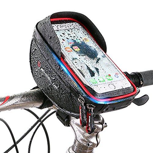 Josopa - Funda para bicicleta con marco frontal, impermeable, para bicicleta o bicicleta, con pantalla táctil, gran capacidad, compatible con teléfonos inferiores a 6 pulgadas B