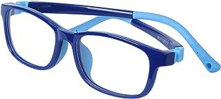 Kids Computer Glasses Anti Blue Light Boys Girls - Anti Slip Design + Adjustable Strap + Case + Cleaning Cloth