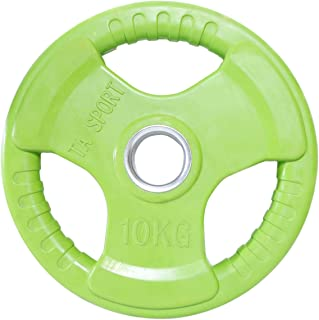TA Sports Weight Plate with Ta Logo, 10 Kg - Green