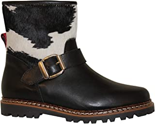 Ammann-SPRING SALE-Womens-Susch- Black Leather with Black/White Cowskin Pdv-Euro 42 / USA 9.5-10.0