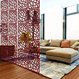 Lchen Hanging Room Divider, Simple Wood Environmentally Safety Home 0.2' Thick Screen Panel (H-Large,15.3'X15.3')