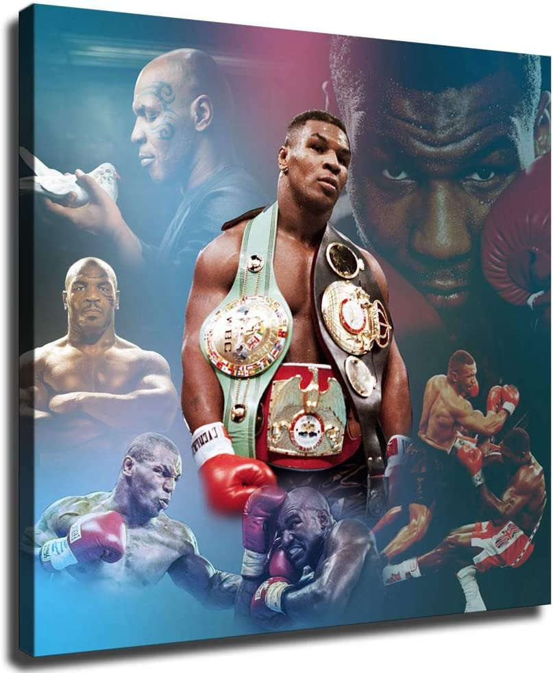 Mike Tyson Poster Boxing 期間限定今なら送料無料 Fan Canvas printing Wall picture HD ファクトリーアウトレット art