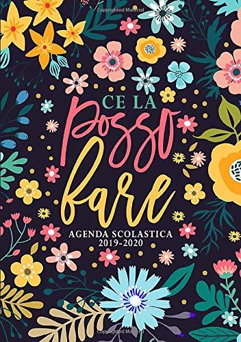 Ce la posso fare: Agenda scolastica 2019-2020: 1 settembre 2019 - 31 agosto 2020: Agenda settimanale dello studente, docente, prefessore, e ... floreale moderno in rosa, blu & giallo 9332