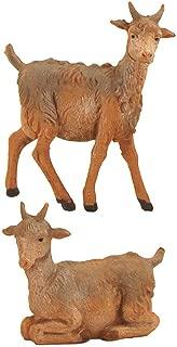 Fontanini Standing and Sitting Goats Italian Nativity Village Figurine Set of 2