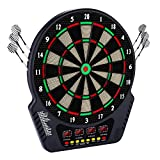 Bunao Diana electrónica, diana E, diana con 6 dardos, puntas de repuesto, 27 juegos y 243 variantes para 16 jugadores