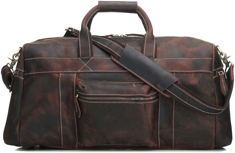 JOYIYUAN Leder Herrentaschen Handgefertigte Handgefertigte Handgefertigte Handtaschen Business Casual Taschen Große Kapazität Business Reisetaschen (Farbe   Photo Farbe) B07PDP2NK6 d0976b