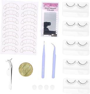 Wimpers Uitbreidingsset, Valse Wimpers Uitbreiding Oefening Set voor Beginners Wimpers Uitbreidingen Oefen Lip Make-up Wim...