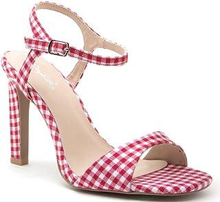 Qupid Hurst-31 Women's Heeled Sandal, Red/White