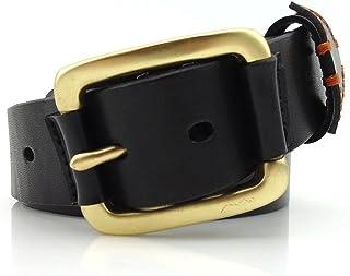 Men's Belt Casual Business Leather Belt with Solid Copper Buckle Belt (Size : XL)
