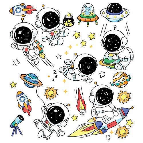 Dibujos animados lindo astronauta pegatinas maleta maleta maleta maleta portátil guitarra skate pegatinas