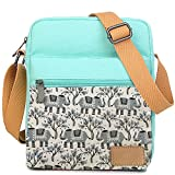 Kemy's Girls Elephant Purses Set Small Crossbody Tween Purse for Teen Girls Women Over Shoulder Messenger Bags for Traveling Easter Gifts, Teal Gray