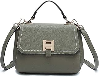 Fashion Spring Fashion Trend Chain Shoulder Bag PU Handbags Messenger Bag (Color : Green)