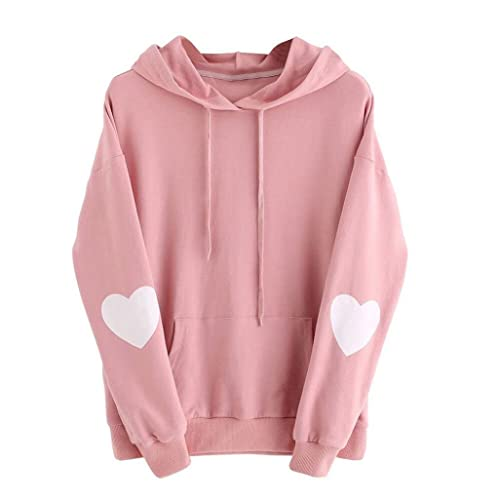 OutTop Women Teen Girls Casual Heart Print Hoodies Sweatshirt Pullover Tops a60af2dcbae9