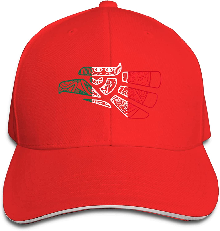 Mexico Aztec Calendar Eagle Boutique Baseball Cap Unisex Print Adjustable Hip Hop Fashion Cool Snapback Hats Black