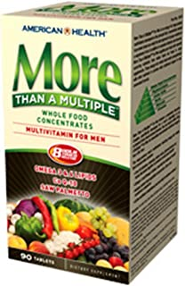 American Health More Than a Multiple Whole Food Concentrate Tablets for Men, 90 Count
