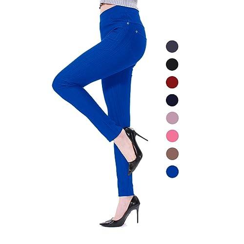 84873058a7867 Sipaya Women's High Waist Jeans Leggings Denim Printed Stretchy Jeggings  S-2XL