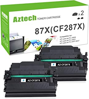 Aztech Compatible Toner Cartridge Replacement for HP 87X CF287X 87A CF287A Laserjet Enterprise M506 M506dn M506n M506x M527dn Laserjet Pro M501dn (Black, 2-Packs)