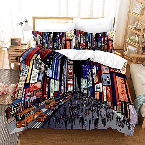 Bedclothes-Blanket Juego sabanas de Cama 150,3D de impresión de Tres Piezas Conjuntos de Almohada Conjuntos de Almohada Hip Hop Tenden Graffiti-6_155 * 220cm