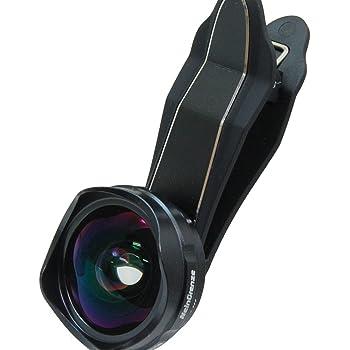 新型 2019 セルカレンズ スマホ や iPhone に対応 広角 レンズ 歪み、ケラレなし 4000WM(ブラック)