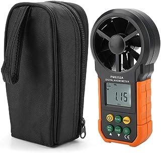Medidor digital Anemómetro Digital de velocidad del viento Anemómetro de medición de volumen de aire con retroiluminación ...