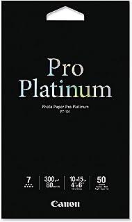 Canon PT1014X6-50 Photo Paper Pro Platinum 6 4x6in 300gsm- 50 Sheets