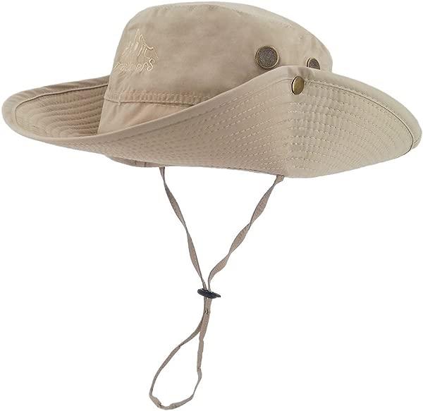 LETHMIK 户外防水 Boonie 帽子宽檐透气狩猎钓鱼 Safari 太阳帽