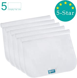 Changing Pad Liners Waterproof Washable (5 Count), Flannel Portable & Durable Extra Large 27