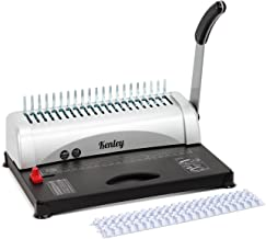 Kenley Binding Machine Paper Punch Binder with Starter Combs Set - 21 Hole / 450 Sheets