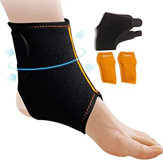 Bolsa de tobillo de gel - reutilizable - alivia el dolor de tobillo y pie, la lesión del tendón de Aquiles, la fascitis plantar y la bursitis - 8'' x 6''