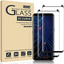 LasGame Glass Screen Protector for Samsung Galaxy S8,[2 Pack] 3D Curved Tempered Glass, Dot Matrix with Easy Installation Tray, Case Friendly