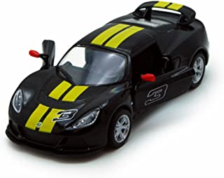 Kinsmart 2012 Lotus Exige S Hard Top #3, Black with Yellow Stripes 5361DF - 1/32 Scale Diecast Model Replica, but NO BOX